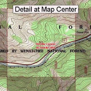 USGS Topographic Quadrangle Map   Weddle Canyon