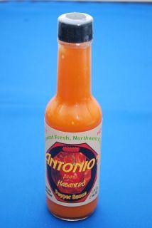 Hot Sauce Antonios Brand Habanero Pepper Sauce