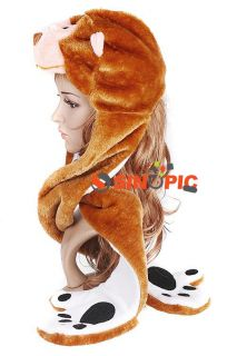HOT Gift   Fashion Party Animal Fancy Dress Costume Hat Cap Gloves