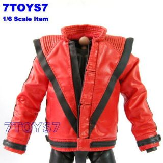 Hot Toys 1 6 Michael Jackson Thriller Red Jacket 1 HT012L