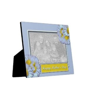 Mothers Day ADD YOUR PHOTO Blue Daisies Display Plaques
