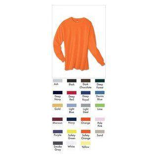 Hanes TAGLESS 6.1 Long Sleeve T Shirt 5586, Black, 3XL