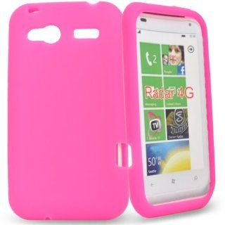 Mobile Palace  Pink silicone case cover pouch for htc