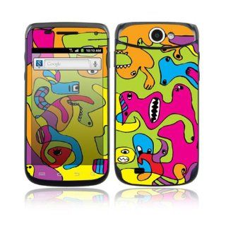 Samsung Exhibit II 4G Decal Skin Sticker   Color Monsters