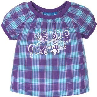 The Childrens Place Girls Plaid Woven Top Shirt Sizes 6m