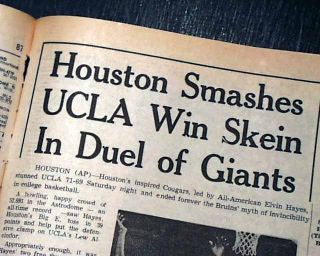 UCLA Bruins Houston Cougars Game of The Century NCAA Basketball 1968