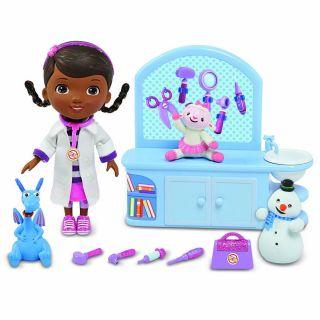 DISNEY Doc McStuffins Magic Talkin Checkup Set Lambie Stuffy Chilly 10