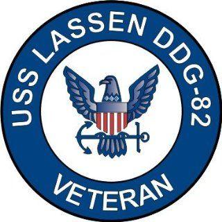 US Navy USS Lassen DDG 82 Ship Veteran Decal Sticker 3.8 6 Pack