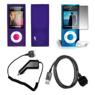 Premium Purple Soft Silicone Gel Skin Cover Case + Crystal