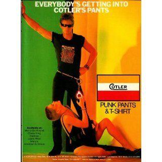 1981 Cotler Punk Pants Clothing Man Woman Black Original