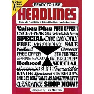 Ready to Use Headlines (Dover Clip Art): Ted Menten: 9780486234540