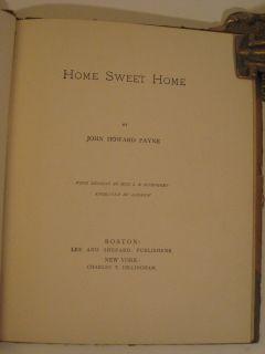 1880 John Howard Payne Home Sweet Home