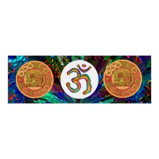 Om Mantra OmMantra Gold Round Print