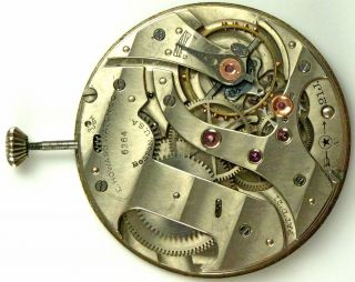 Howard 10 Size Pocket Watch Movement Spare Parts Repair