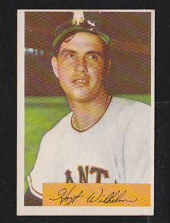 1954 Bowman #57 Hoyt Wilhelm EX New York Giants Premium Vintage Card $