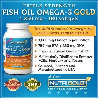 #1 Omega 3 Fish Oil Capsules   Triple Strength Omega 3