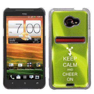 Green HTC Evo 4G LTE Aluminum Plated Hard Back Case Cover
