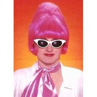 Hot Pink Audrey Beehive Costume Wig