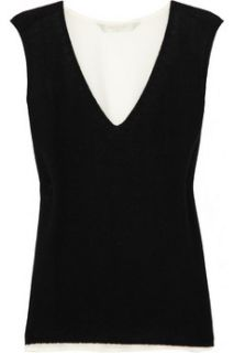 Reed Krakoff Two tone cashmere and silk top