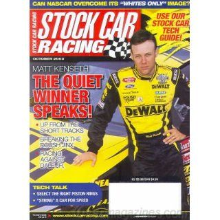 Stock Car Racing October 2003 (Matt Kenseth   The Quiet Winner Speaks