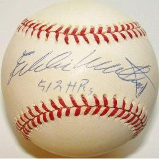 Eddie Mathews Autographed Ball   512 HRS VINTAGE NL Braves