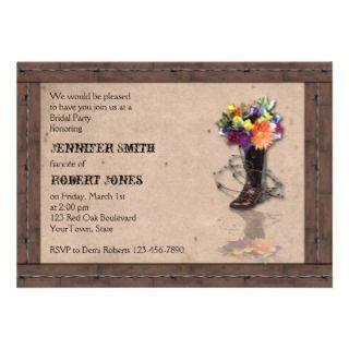 Western Barbed Wire Bridal Shower Invitation
