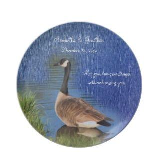 Canada Goose Art Love Wedding Keepsake Plate