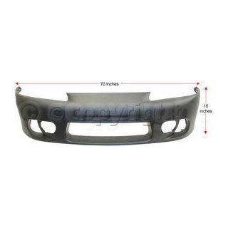 ECLIPSE 97 99 FRONT BUMPER COVER, Primed, with Fog Lamp Holes and Side