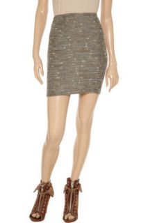 See by Chloé Metallic flecked tweed mini skirt