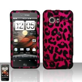 Hot Pink Leopard Hard Case Cover HTC Droid Incredible