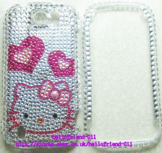 Kitty Rhinestone BLing Full Case Cover For HTC myTouch 4G Slide #A