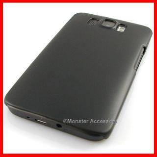 Black Slim Rubberized Hard Case HTC HD2 Leo Accessory