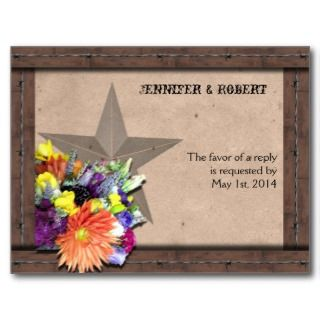 Country Western Barbed Wire RSVP Postcard