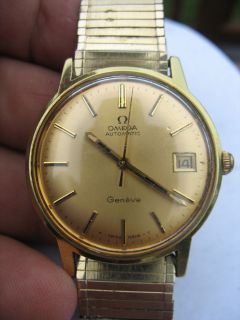 Vintage 1960s Mens Omega Automatic Geneve Wrist Watch