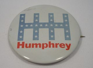 Vintage Hubert Humphrey Political Campaign Button Pin