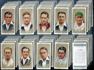 Tobacco Card Set John Player Sons Cricketers 1934 England V Australia