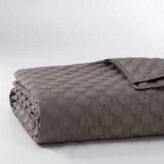 Hudson Park Cartouche Full Queen Quilted Coverlet $320 00 Gray