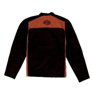 Harley Mens Orange Black Nylon Jacket New 97534 10VM