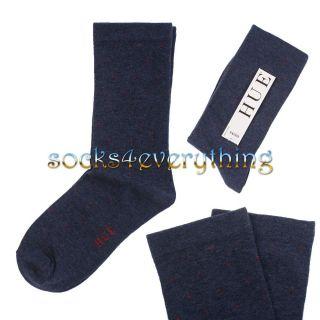 New Hue Womens Diabetic Cuff Crew Polka Dot Cotton Socks Black Red