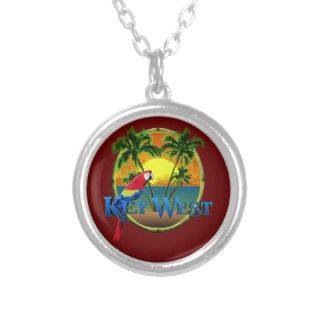 Beach Sunset with Bright Orange Sky & Low Sun Custom Necklace