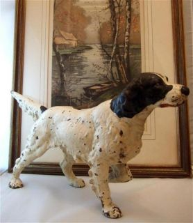Vintage Hubley Cast Iron English Setter Pointer Hunting Bird Dog