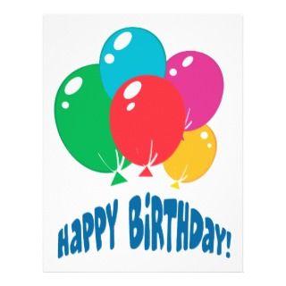 diseño de los globos del feliz cumpleaños tarjetas publicitarias de
