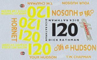 120 Dick Rathman Hudson Hornet NASCAR T w Chapman Decals
