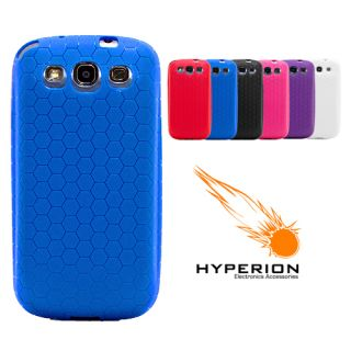 Hyperion Samsung Galaxy s III Extended Battery Honeycomb TPU Case Blue
