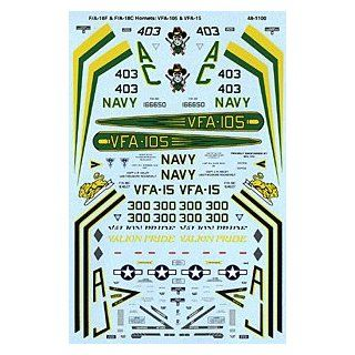 F/A 18 E/C Hornet: VFA 15, VFA 105 (1/48 decals): Toys & Games