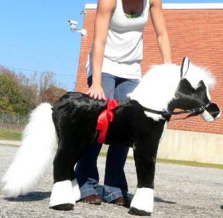 Giant Stuffed Black Horse Pony 36 Big Plush New Toy