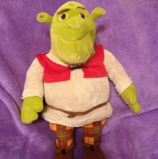 21 Mint Jumbo Large Stuffed Plush Toy Shrek Ogre Red Vest Plaid Pants