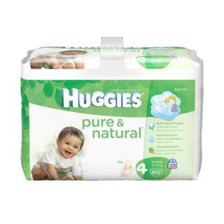 Features of Huggies Pure & Natural Diapers, Size 4, 60 Count (Pack of