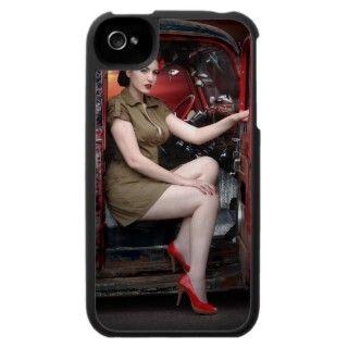 Rat Rod Military Pin Up Girl Hot Rod iPhone 4 Case ipad/iphone/ipod