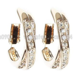 18K Gold Plated Huggie Earrings  120208